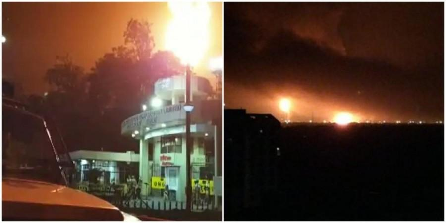 After 3 Blasts , At ONGC's Surat Plant Massive Fire – There Is No Fatalities Reported